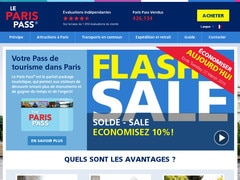 Coupon de 25% sur le site parispass.com