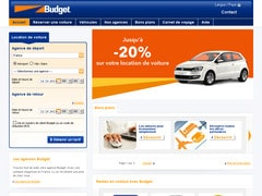 Super Deal : 20% sur réservations chez Budget Rent a Car