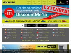 Code promo 10% sur location Gold Car France