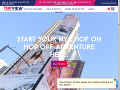40% offert sur Tours NYC Hop On Hop Off Bus